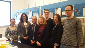 President Gertler visits the Radisic lab. April 1 /14