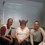 Dennis Romero (Danisco), Helene Deveau (Laval University) and Philippe Horvath (Danisco)